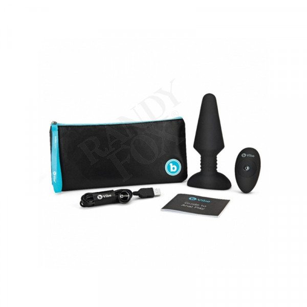 B-Vibe Rechargeable Rimming Plug XL Anal Vibrator with Remote