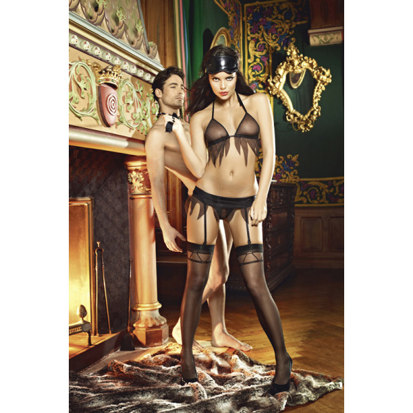 Sheer Thigh High with Jacquard Pattern - OS