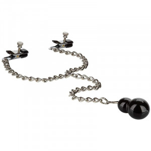 Cal Exotics Nipple Play - Weighted Dual Tier Nipple Clamps