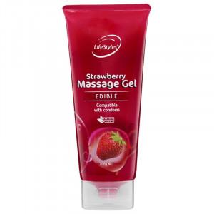 Lifestyles Strawberry Massage Gel 200mL