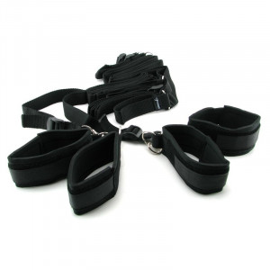 Fetish Fantasy Bed Restraint Bondage Kit (Bondage) Black