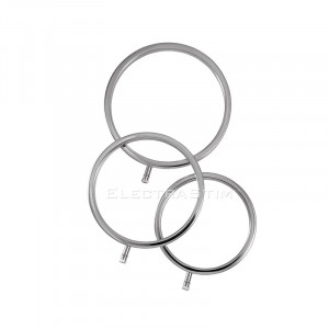 Electrastim Solid Metal Scrotal Ring Set 3 Sizes