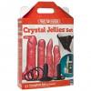Doc Johnson Va-U-Lock Crystal Jellies Set Strap-On Dildo Harness Kit