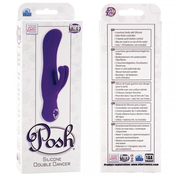 Posh Silicone Double Dancer - Purple