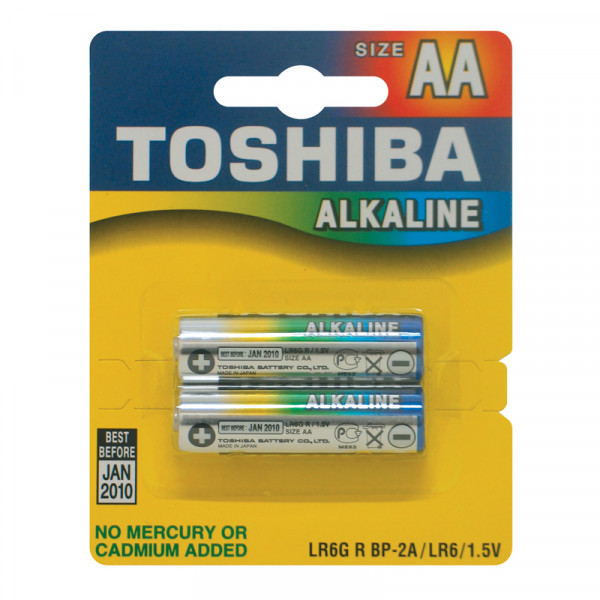 Toshiba AA Alkaline Batteries (2 Pack)