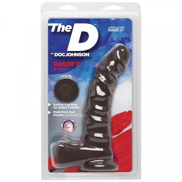Doc Johnson The Ragin D 9 Inch Realistic Dildo - Chocolate