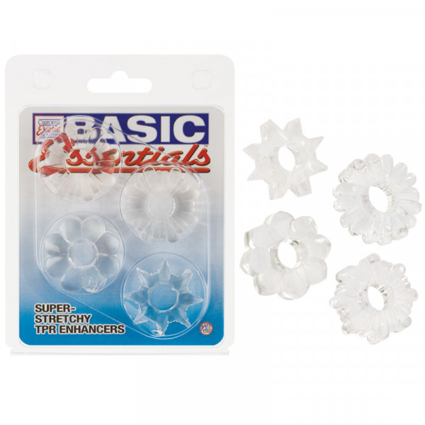 Basic Essentials Set of 4 Rings - Clear