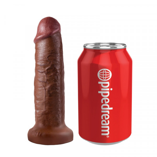 PipeDream King Cock - Vibrating Mini Sex Ball With 7 Inch Dildo - Brown