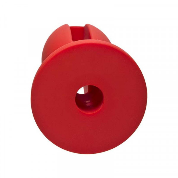 Doc Johnson Kink - Silicone Lube Luge 4-Inch Butt Plug - Red
