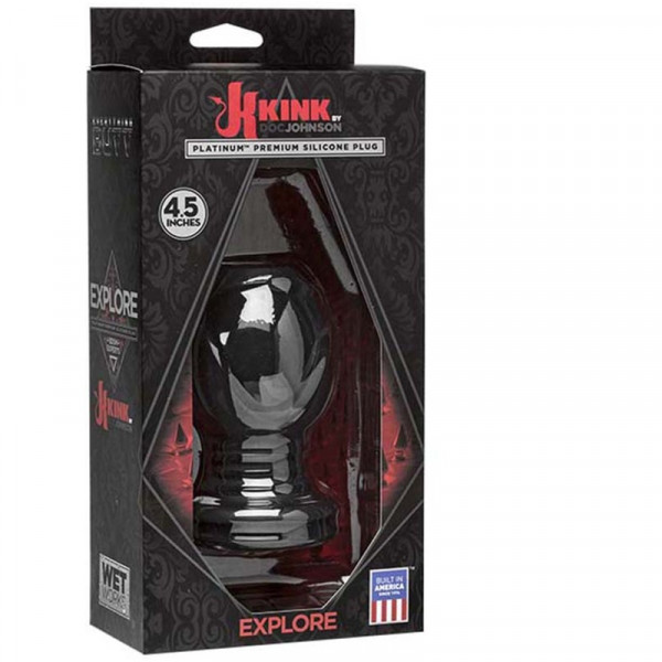 Doc Johnson Kink - Explore Silicone Butt Plug XL - Black