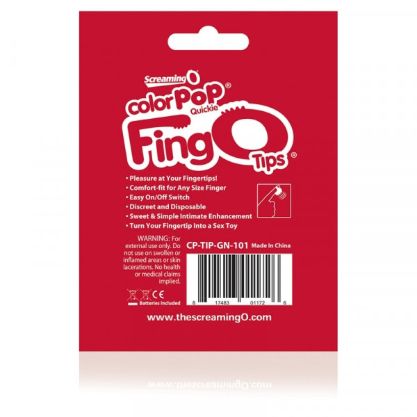 Screaming O ColorPop FingO Tips Finger Vibrator