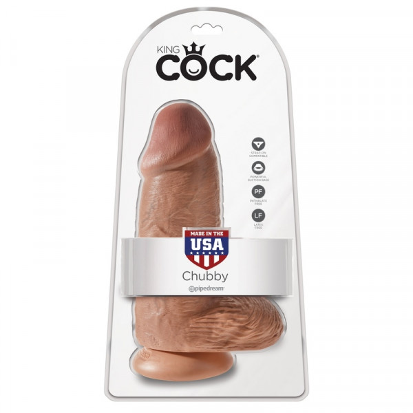 Pipedream King Cock - Chubby 9 Inch Super Thick Realistic Dildo - Tan