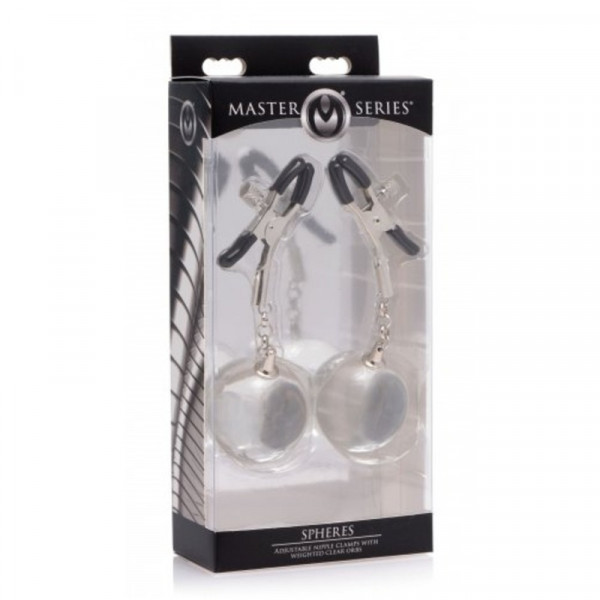 Master Series Spheres Adjustable Nipple Clamps With Weighted Orbs