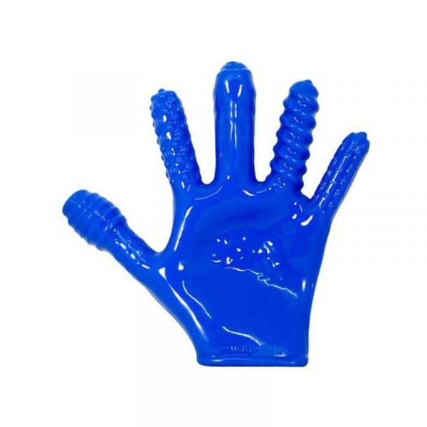 Oxballs Finger Fuck Glove Anal Probe-Blue