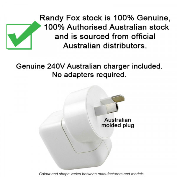 100% Genuine Australian charger included. No adapters required.