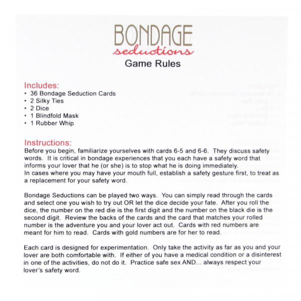Bondage seduction game