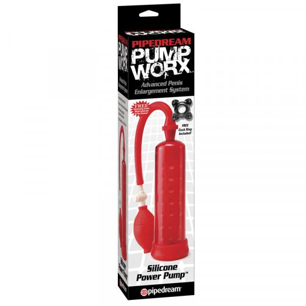 PUMP WORX - Silicone Power Pump Red