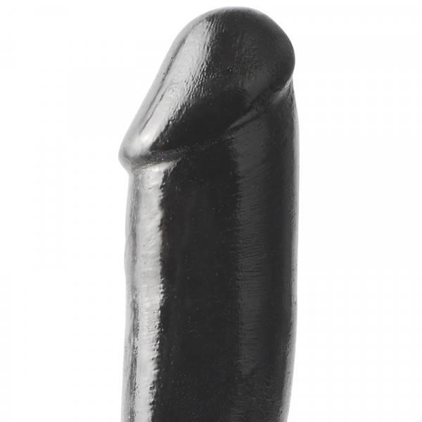 Basix 10 Inch Dong with Suction Cup - Black