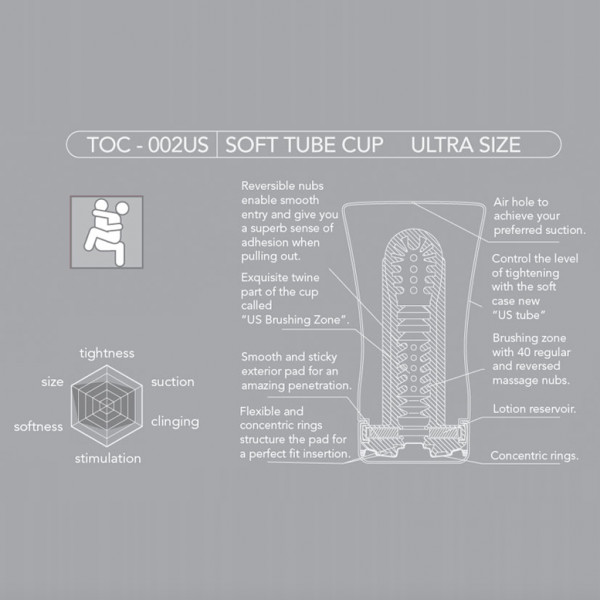 Soft Tube Cup Ultra Size Edition | Masturbation Sleeve by TENGA-1