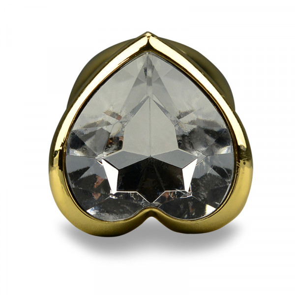 Randy Fox Heart Jewel Metal Butt Plug - Gold