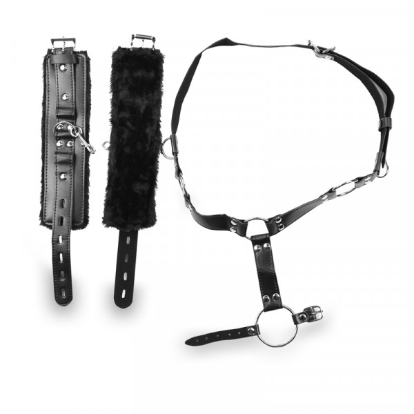 Randy Fox Cock and Balls Harness with Wrist Cuffs