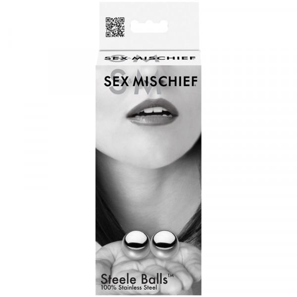 Sex & Mischief Kegel Steele Silver Duo Balls