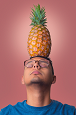 Man with Pineapple on Head - Randy Fox