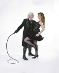 Man with a Whip Holding a Lady - Randy Fox