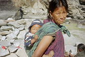 Nepalese Woman with Baby - Randy Fox