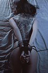 Tattooed Girl Tied to the Bed - Randy Fox