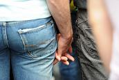 Two Men Holding Hands - Randy Fox