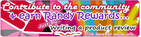 Write a review & earn Randy Rewards...